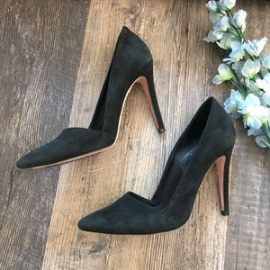 Alice & Olivia | Dina Black Suede Heels